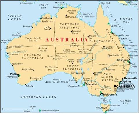 Dịch vụ vận chuyển hàng đi Úc từ TP HCM